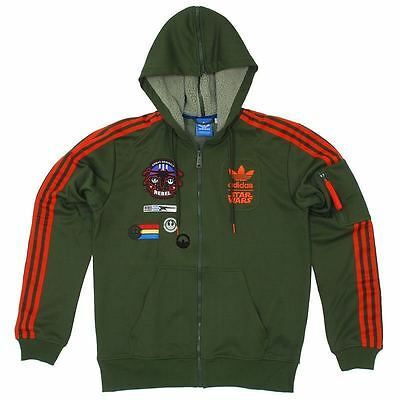 ADIDAS STAR WARS HOODED FLOCK JACKET Men M O58904 X WING Han