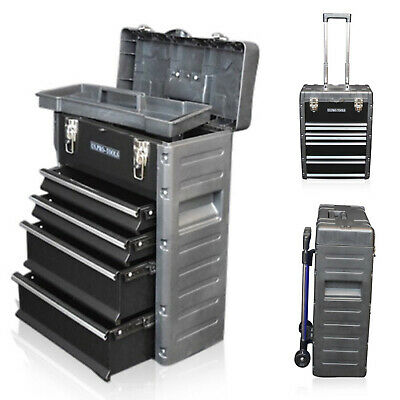 320 US PRO Tools Black Mobile Roller Chest Trolley Cart Storage cabinet Tool Box