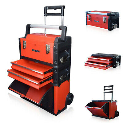 315 US PRO Tools Red Mobile Rolling Chest Trolley Cart cabinet Wheels Tool Box