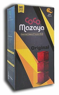 Coco Mazaya 96pc Cube Natural Coconut Hookah Shisha Nara Charcoal Coal FREE SHIP