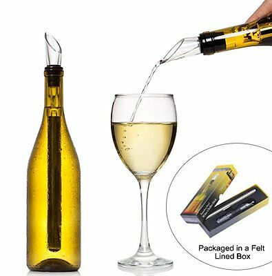 Stainless Steel Wine Chiller 4-in-1 Pourer and Aerator