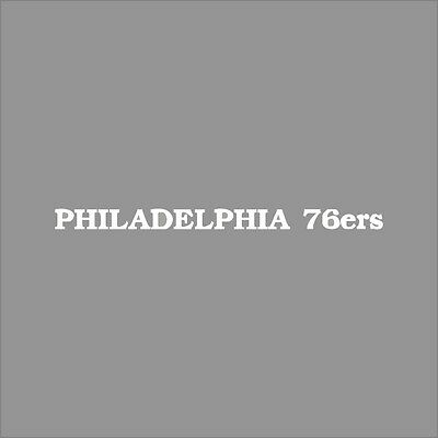 Philadelphia 76ers #9 NBA Team Logo 1Color Vinyl Decal Sticker Car Window Wall
