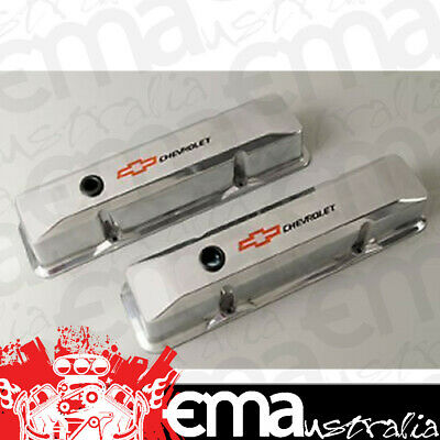 Proform Tall Alloy Valve Covers Pr141-108 Polished With Logo Suit Chev Sb V8
