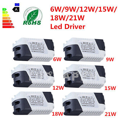 New Dimmable LED Light Lamp Driver Transformer Power Supply 6/9/12/15/18/21W QT
