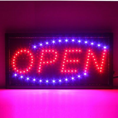 led schild leuchtreklame reklame leuchtschild open licht werbung neon hell kiosk eur 18 95. Black Bedroom Furniture Sets. Home Design Ideas
