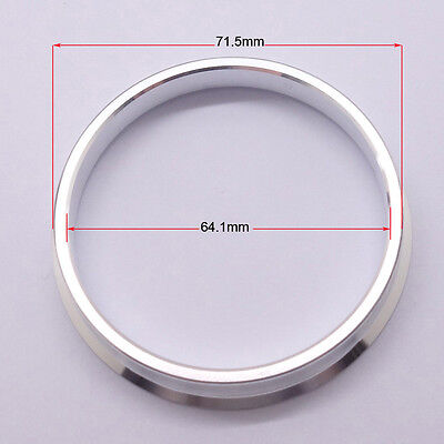 4pcs High Quality Aluminum Alloy Wheel Spacer Hub Centric Rings 71.5OD to 64.1ID