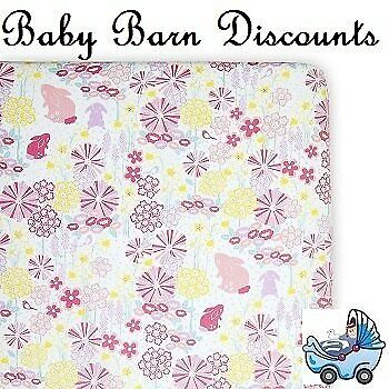NEW Weegoamigo - Fitted Bassinet Sheet - Blooming Bunny from Baby Barn Discounts