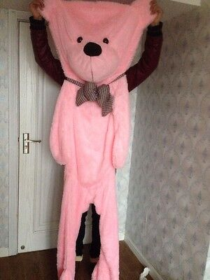 200CM PINK BIG CUTE PLUSH TEDDY BEAR Skin semi-finished products toy doll gift