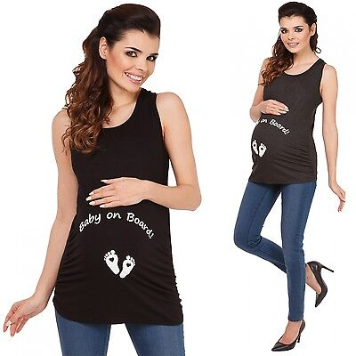 Zeta Ville - Women's Maternity Shirt Tank Top Slogan Baby 15% OFF - 072c