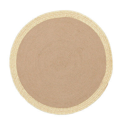 New Milano Metallic Gold and Natural Jute Rug Network Hand Woven Multi dimension