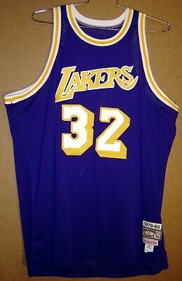 Los Angeles Lakers Magic Johnson Autographed Mitchell & Ness Authentic Jersey