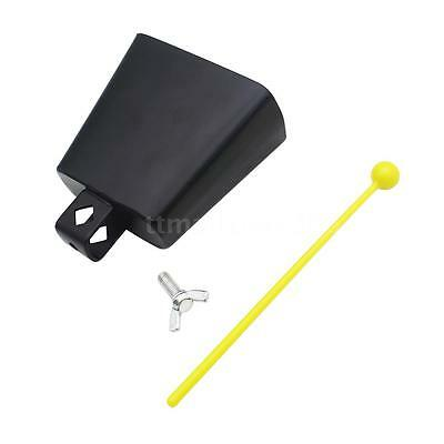 "4"" Iron Cow-bell Percussion + Clapper for Drum Set Kit Accessory New P7F5"