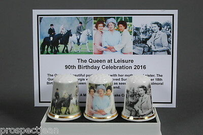 The Queen At Leisure 90th Birthday Celebration 2016 Boxed Set of 3+Keepsake Card
