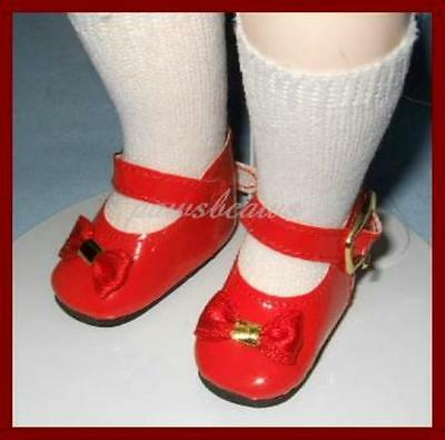 """Classic RED Patent Doll SHOES for 10"""" Ann Estelle PATSY 14"""" Madame Alexander"""