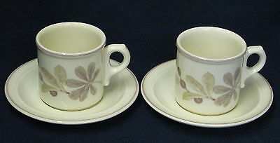 2 x UNUSED Wedgwood Chestnut Oven to Tableware Cups \u0026 Saucers - more available & 2X WEDGWOOD Pennine Tea Plates Oven To Tableware - £3.99 | PicClick UK