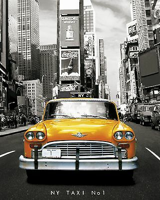 "20x30"" NEW YORK YELLOW TAXI LARGE CANVAS PRINT WALL ART READY TO HANG"