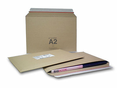 A2 size Lil 234 x 334 mm Rigid Cardboard Book Mailer Envelope Large Letter