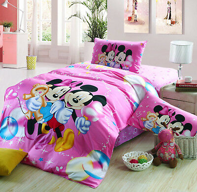Disney Licensed Minnie Mouse 7Pcs Twin Full Queen Size Comforter In A Bag