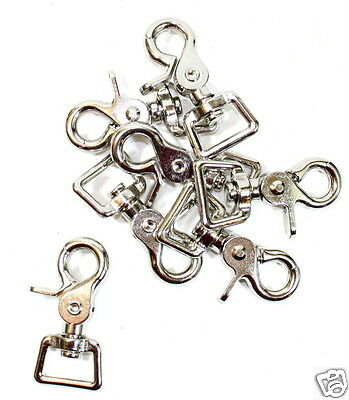 "Lot 10 Square End Scissor Trigger Snaps. 3/4 x 2-3/8"" Great for Reins Headstalls"