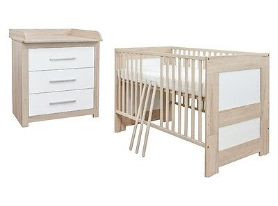 set babyzimmer kinderzimmer 2 teilig mit bett wei pinie. Black Bedroom Furniture Sets. Home Design Ideas