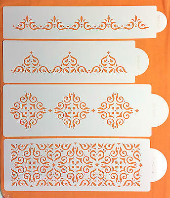 Cake Decorating Stencil 4 Tier Great Size For Wedding