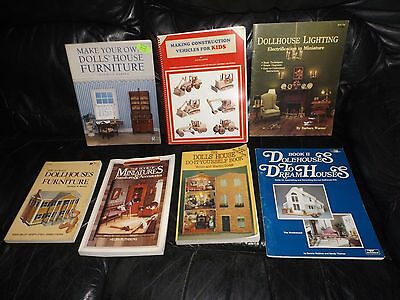 Lot of 7 dollhouse miniature furniture books Crafting how to make