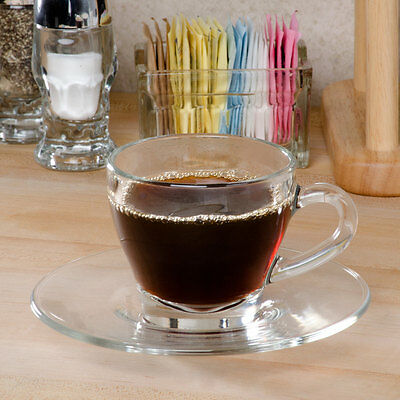 Usa Seller   Cappuccino/espresso Cup 6 Oz Clear Glass Free Shipping Us Only