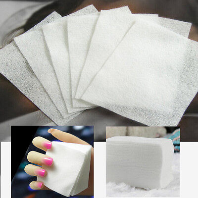 1800x Manicure Nail Art Polish Remover Lint Free Cleaner Wipe Cotton Pads Paper