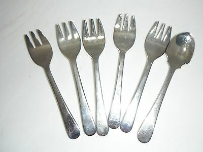 Sheffield England Silverplate Appetizer  Forks And Spoon