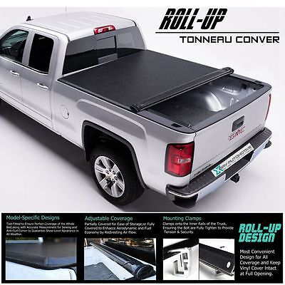 "Roll Up / Lock Soft Tonneau Cover Fit 2007-2013 Chevy Silverado 6.5ft / 78"" Bed"