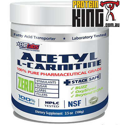 Ehplabs Acetyl-L-Carnitine 100G Unflavoured Weight Loss Fat Burner Ehp Labs Alc
