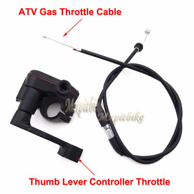 Thumb Throttle Control Housing Cable For 50cc 70cc 90cc 110cc 125cc ATV Quad