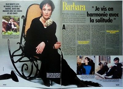 BARBARA =>  COUPURE DE PRESSE 2 pages 1992 // FRENCH CLIPPING