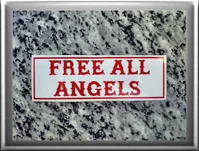 "HELLS ANGELS Support 81 Sticker Aufkleber ""FREE ALL ANGELS"""