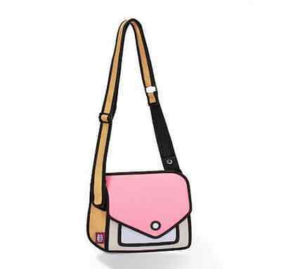 3D Jump Style Bag, Shoulder bag with Animation/Cartoon effect, Light Pink (ox12)