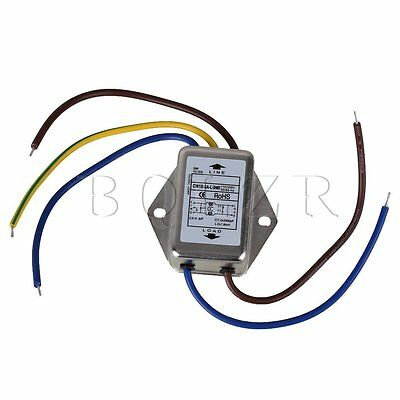 AC250V 3A Three Lines Power Supply Filter Power Signal Phase Noise EMI Filter