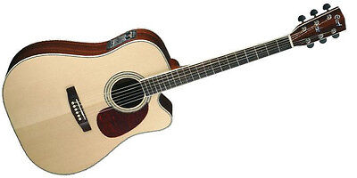 Cort Acoustic Electric Dreadnought Guitar Mr740Fx Natural, All Solid Top And Bac