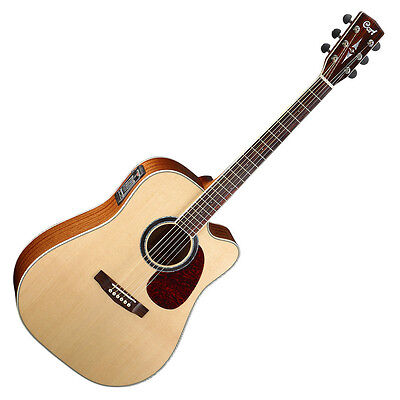 Cort Acoustic Electric Dreadnought Guitar Mr730Fx Natural, All Solid Top & Back
