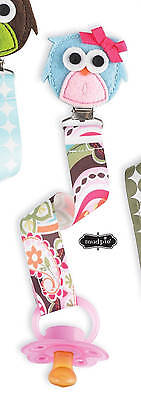 Mud Pie Forest Friends Paisley Owl Pacifier Clip - DISCONTINUED