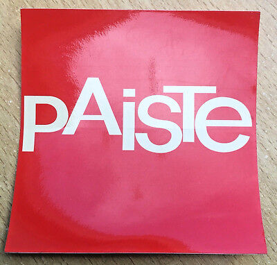 """Paiste 3""""x 3"""" Sticker Drummer/Drums/Cymbals ~Free Shipping~"""