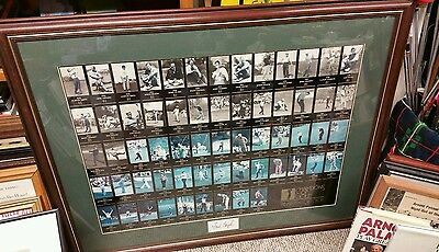34 x 43 Framed Masters Champions signed by Freddie Couples 1934 to 1997