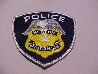 Merton Wisconsin  Police Patch