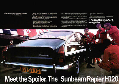 Sunbeam H120 Rapier Fastback Coupe Retro A3 Poster Print From 60's Advert