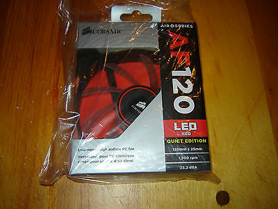 Corsair AF120 Red LED Quiet Edition Case Fan