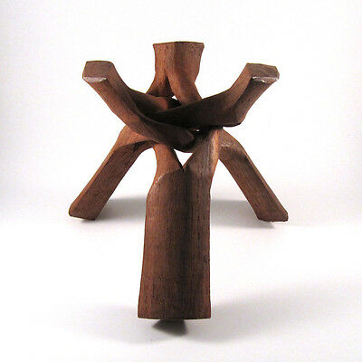 """Wooden Tripod Sphere Stand, 10"""" - WTS004"""