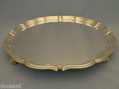 Tablett / Salver - 36 cm - versilbert - Sheffield um 1920 - Harrison Bros.