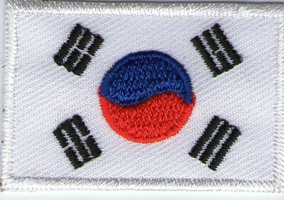 Ecusson Patche Thermocollant Drapeau Coree Du Sud Dimensions 4,5 X 3 Cm