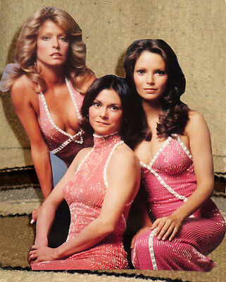 "Charlies Angels 1970's TV Series Tabletop Display Standee 10"" Tall"