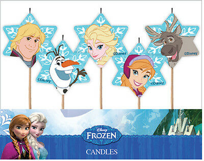 Disney Frozen Candles 5PK AWE2074 Party Supplies Cake Toppers Decoration
