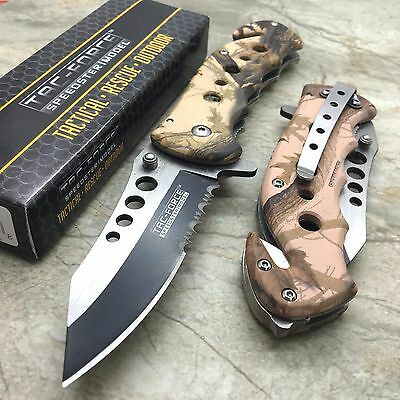 TAC-FORCE Hunting Tactical Camo Spring Assisted Open Folding Pocket Knife New